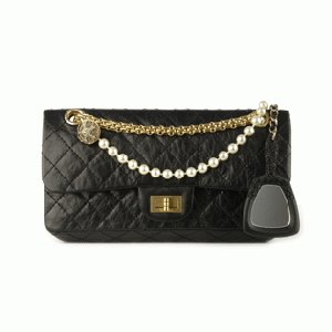 CHANEL Handbag Flap Black Charm Not A Replica 224