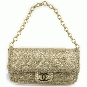 CHANEL Quilted Gold Flap Bag 233C Replica Discount Outlet